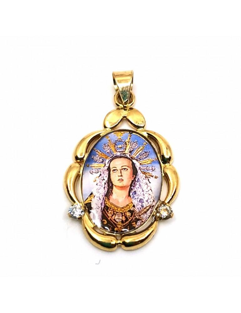 Medalla en oro 18k Virgen de los Dolores