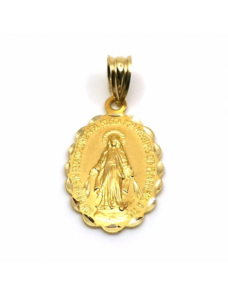 Medalla Virgen Maria Inmaculada en oro 18k